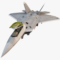 maya f-22 raptor 4 rigged