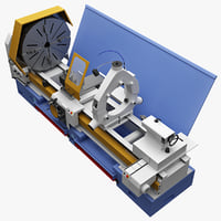 realistic milling machine cu 3d model