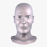 male head sculpting 3d model