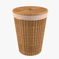 Bathroom Wicker Bin
