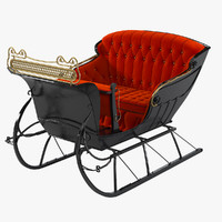 Vintage One Horse Open Sleigh
