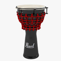 3d model pearl djembe