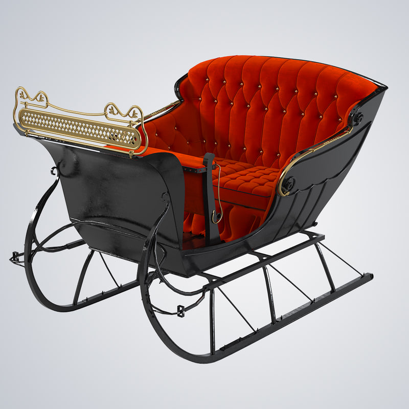 b One horse open sleigh sled 1800 sharp cutter back button seats great vintage retro old antique traditional christmas new year0001.jpg