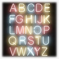 Neon Tube Alphabet 2