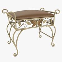 vanity bench 3d model