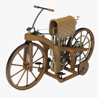3d model classic motorcycle daimler
