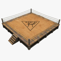 3d boxing ring model
