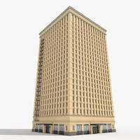 classically building tower 3d model