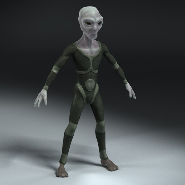 3ds grey alien