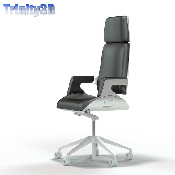 3d interstuhl silver office chair model. Black Bedroom Furniture Sets. Home Design Ideas