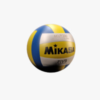 maya realistic volley ball