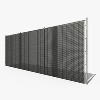 3d privacy chain link fence model