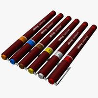 3d rapidograph technical pens model