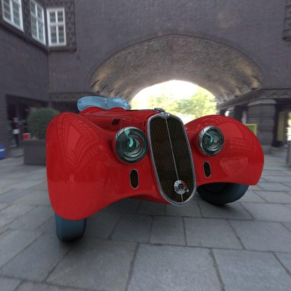 3d Model Alfa Romeo 8c 2900b