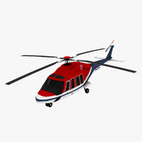 agustawestland aw139 helicopter bell c4d