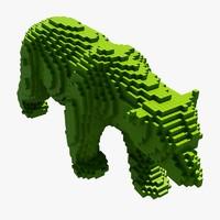 maya pixel polar bear