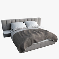 3d modern contemporary bed realistic model