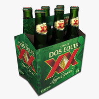 3d model pack dos equis beer