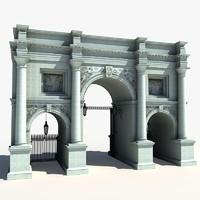 marble arch london landmark 3d model