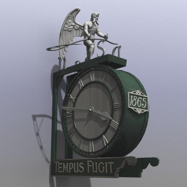 Clock Tempus Fugit