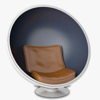 ball chair stylish 3d model