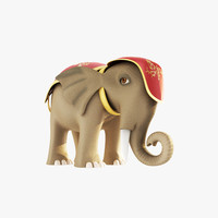 3d max elephant cartoon