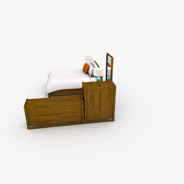 3d c4d modern bedroom set design - Design within reach bed frame ...