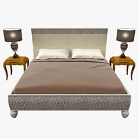bizzotto rebecca bed 3d model