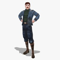 3d model ralph video mustache