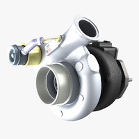 3d turbocharger turbo model