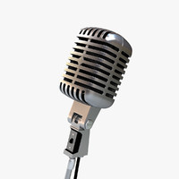 3ds max vintage microphone mic