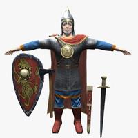 3d medieval warrior model