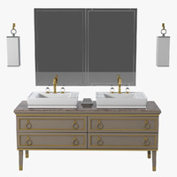 oasis luxury bathroom furniture 3d model