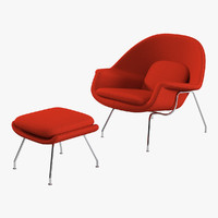 Eero Saarinen's 1946 Womb Chair & Ottoman