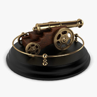 antique cannon vintage 3d model