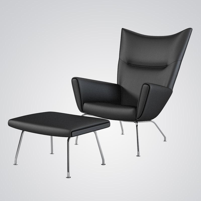 b Hans J wegner Divina Menlange Wing Chair modern contemporary lounge ottoman pouf footrest 24860 25310 0001.jpg