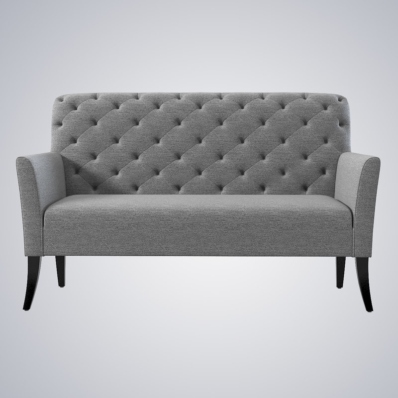 3d model west elm elton settee for Best west elm sofa