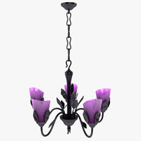 3d leaf chandelier