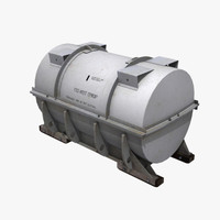 Gray Cylinder Tank