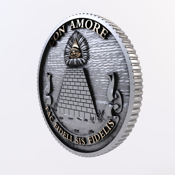 heraldry blazon 3d max - USA Great Seal Reverse... by klisan