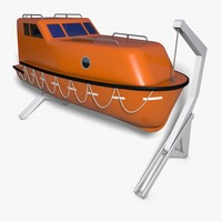 3ds max lifeboat boat