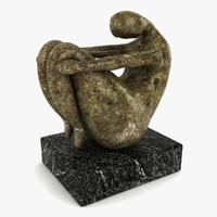 Woman Sculpture Fetal Position