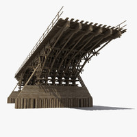 3d model wood bridge