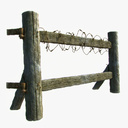 Wooden Fence 3D models