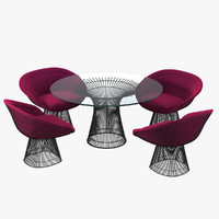 planter dining table chair 3d max