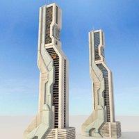 Sci Fi Futuristic Building