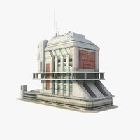 3ds sci fi futuristic building