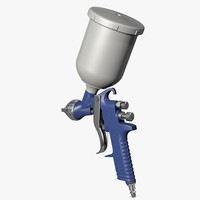 3d model of spray gun
