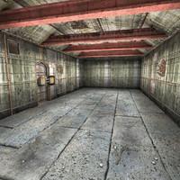 3d model bunker scene