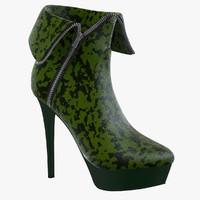 3d female boots model